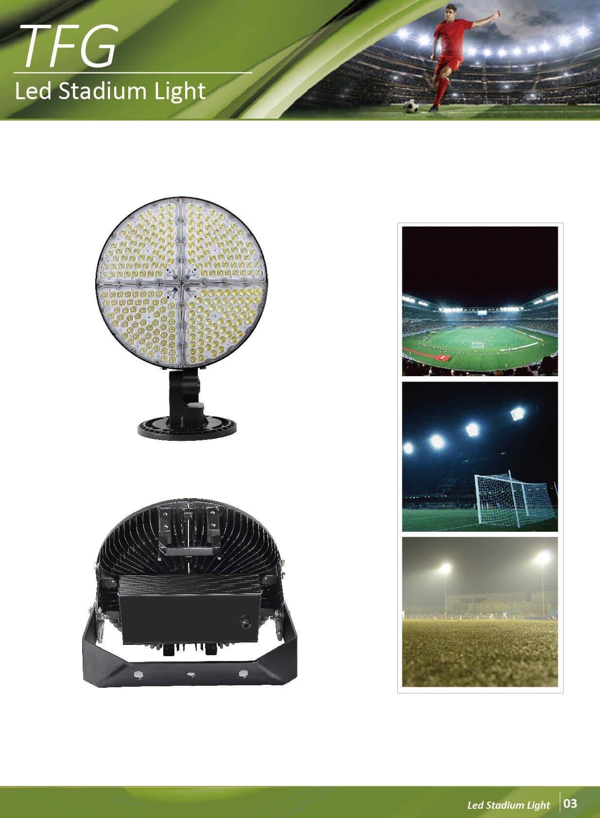 led football flood light